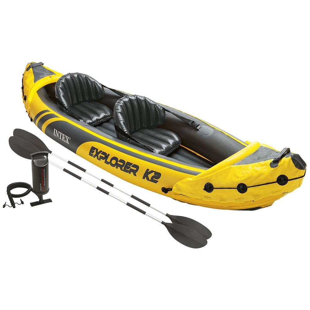 Intex Explorer K2 Inflatable Kayak Review | 2-Person Kayak Set